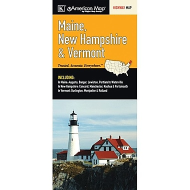 Universal Map Maine/New Hampshire/Vermont Fold Map
