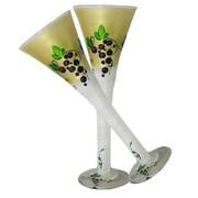 Golden Hill Studio Grapes 'n Vines Champagne Glass (Set of 2)