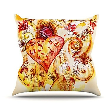 KESS InHouse Tree of Love Outdoor Throw Pillow; 20'' H x 20'' W x 4'' D