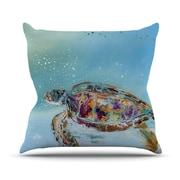 KESS InHouse Home Sweet Home Outdoor Throw Pillow; 16'' H x 16'' W x 3'' D