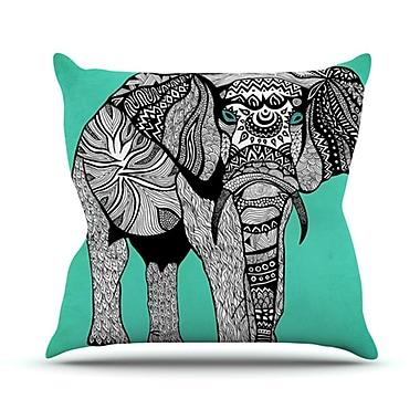 KESS InHouse Elephant of Namibia Outdoor Throw Pillow; 20'' H x 20'' W x 4'' D