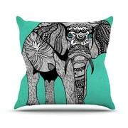 KESS InHouse Elephant of Namibia Outdoor Throw Pillow; 16'' H x 16'' W x 3'' D