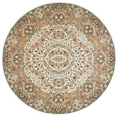 Kathy Ireland Home Gallery Antiquities Stately Empire Ivory Area Rug; 7'10'' x 7'10''