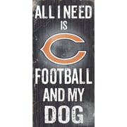 Fan Creations NFL Football and My Dog Textual Art Plaque; Chicago Bears