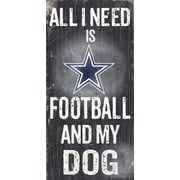 Fan Creations NFL Football and My Dog Textual Art Plaque; Dallas Cowboys