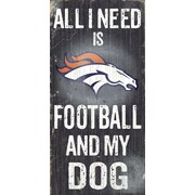 Fan Creations NFL Football and My Dog Textual Art Plaque; Denver Broncos