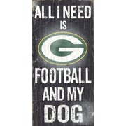 Fan Creations NFL Football and My Dog Textual Art Plaque; Green Bay Packers