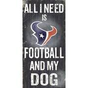 Fan Creations NFL Football and My Dog Textual Art Plaque; Houston Texans