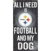 Fan Creations NFL Football and My Dog Textual Art Plaque; Pittsburgh Steelers