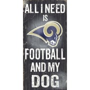 Fan Creations NFL Football and My Dog Textual Art Plaque; St. Louis Rams