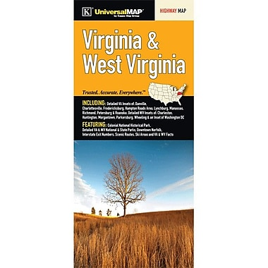 Universal Map Virginia/West Virginia Fold Map