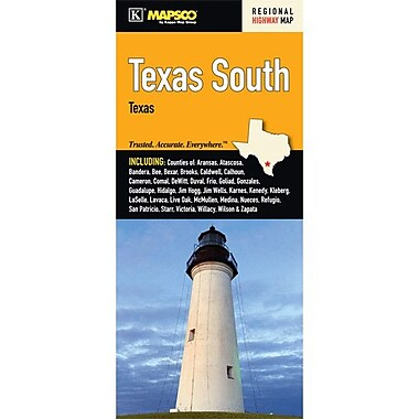 Universal Map Texas South Fold Map