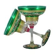 Golden Hill Studio Christmas Garland Margarita Glass (Set of 2)