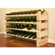 Vinotemp 36 Bottle Floor Wine Rack; Natural