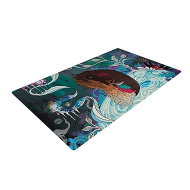 KESS InHouse Delicate Distraction Otter Novelty Rug; 2' x 3'