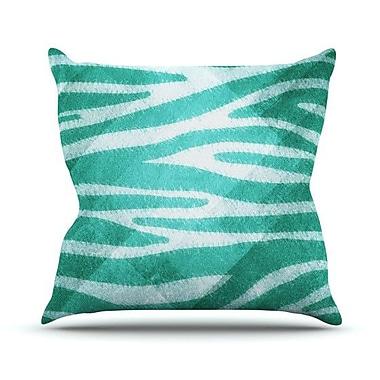 KESS InHouse Zebra Print Texture Outdoor Throw Pillow; 18'' H x 18'' W x 3'' D