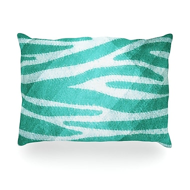 KESS InHouse Zebra Print Texture Outdoor Throw Pillow; 14'' H x 20'' W x 3'' D