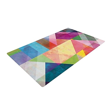 KESS InHouse Color Blocking Rainbow Abstract Area Rug; 4' x 6'