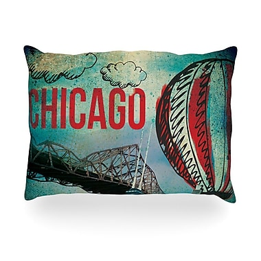 KESS InHouse Chicago Outdoor Throw Pillow; 14'' H x 20'' W x 3'' D