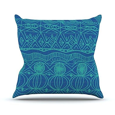 KESS InHouse Beach Blanket Confusion Outdoor Throw Pillow; 18'' H x 18'' W x 3'' D