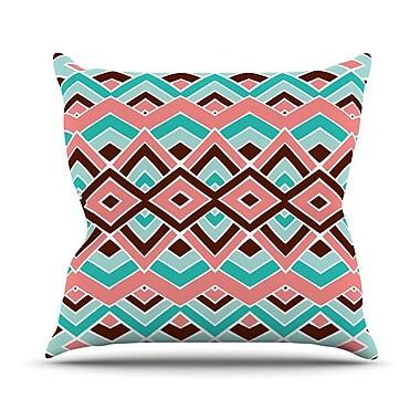 KESS InHouse Eclectic Outdoor Throw Pillow; 18'' H x 18'' W x 3'' D