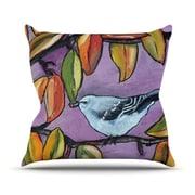KESS InHouse Mockingbird Outdoor Throw Pillow; 20'' H x 20'' W x 4'' D