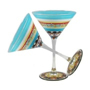 Golden Hill Studio Mosaic Carnival Martini Glass (Set of 2)