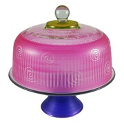 Golden Hill Studio Frosted Curl Cake Stand; Pink