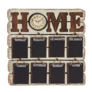 Woodland Imports Antique 26'' Styled Brilliant Wood Memo Clock