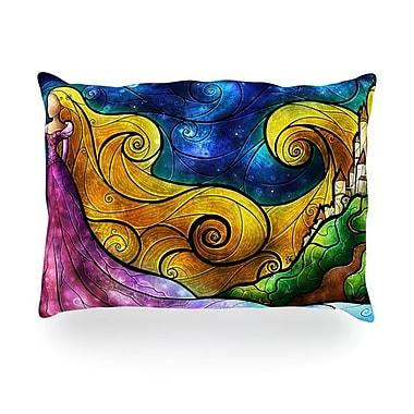 KESS InHouse Starry Lights Outdoor Throw Pillow; 14'' H x 20'' W x 3'' D