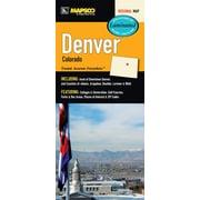Universal Map Denver Colorado Laminated Fold Map