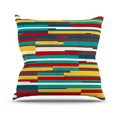 KESS InHouse Blowmind Outdoor Throw Pillow; 16'' H x 16'' W x 3'' D