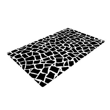 KESS InHouse British Mosaic Black Area Rug; 2' x 3'