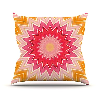 KESS InHouse You are my Sunshine Outdoor Throw Pillow; 14'' H x 20'' W x 3'' D