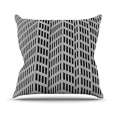 KESS InHouse The Grid Outdoor Throw Pillow; 16'' H x 16'' W x 3'' D