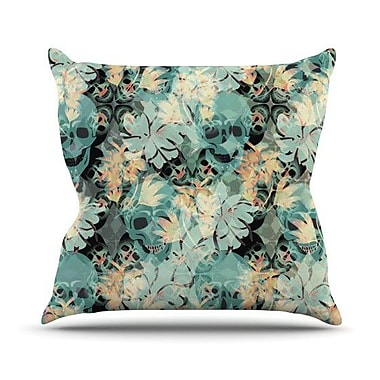 KESS InHouse Dead's Head Party Outdoor Throw Pillow; 20'' H x 20'' W x 4'' D