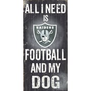 Fan Creations NFL Football and My Dog Textual Art Plaque; Oakland Raiders