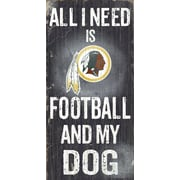 Fan Creations NFL Football and My Dog Textual Art Plaque; Washington Redskins