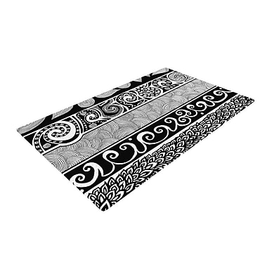 KESS InHouse Tribal Evolution Black/White Area Rug; 2' x 3'