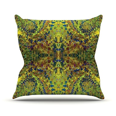 KESS InHouse Yellow Jacket Abstract Outdoor Throw Pillow; 18'' H x 18'' W x 3'' D