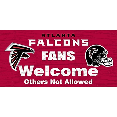 Fan Creations NFL 'Fans Welcome' Graphic Art Print on Wood; Atlanta Falcons