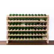 Vinotemp 72 Bottle Floor Wine Rack; Natural