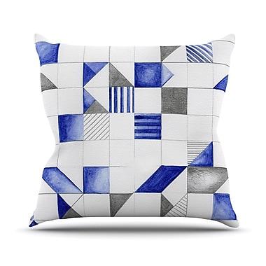 KESS InHouse Winter Geometry Outdoor Throw Pillow; 16'' H x 16'' W x 3'' D