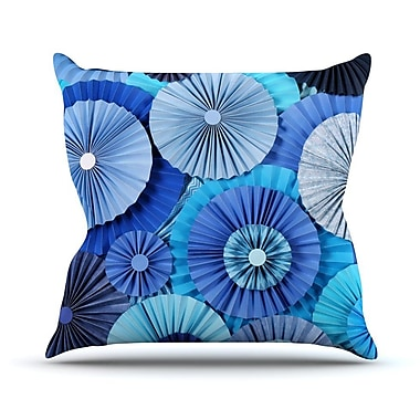 KESS InHouse Lagoon Outdoor Throw Pillow; 14'' H x 20'' W x 3'' D