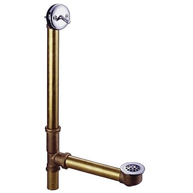 Kingston Brass Made to Match 18'' Trip Lever Waste and Overflow w/ Grid; Chrome