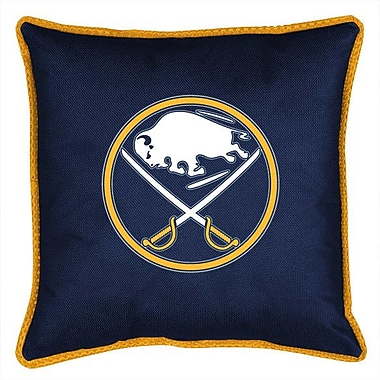 Sports Coverage NHL Buffalo Sabres Sidelines Throw Pillow