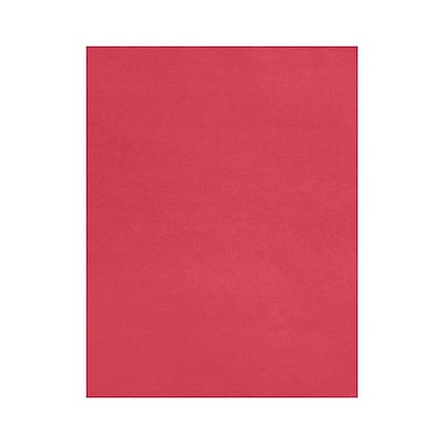 LUX 8 1/2 x 11 Cardstock 50/Box, Holiday Red (81211-C-20-50)