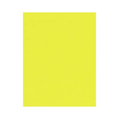 LUX 8 1/2 x 11 Cardstock 1000/Box, Electric Yellow (81211-C-34-1000)