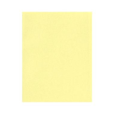 LUX 8 1/2 x 11 Cardstock, Lemonade, 50/Box (81211-C-52-50)