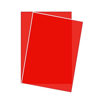 LUX 8 1/2 x 11 Paper 1000/Box, Red Translucent (81211-P-74-1000)